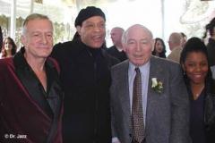 Hugh Hefner, Al Jarreau, George Wein & Patrice Rushen